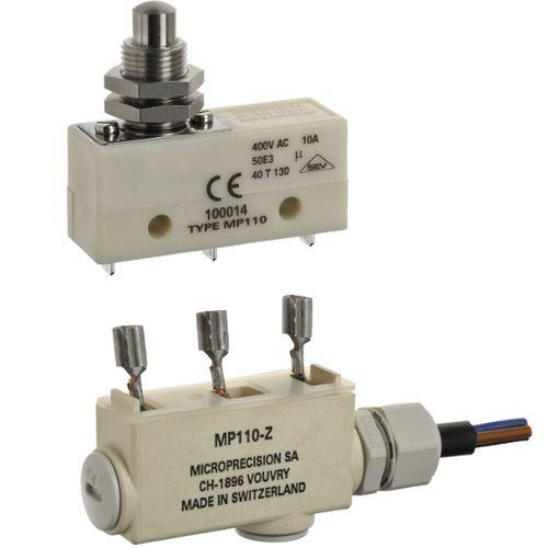 microrruptor de palanca / unipolar / con caja / de PBT