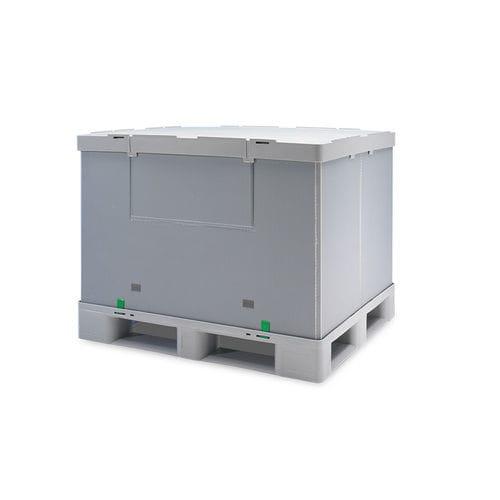 caja-palé de PP / para almacenamiento / plegable / apilable