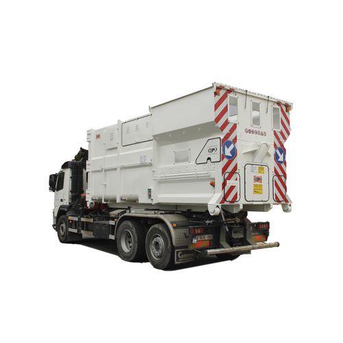 compactador de basura móvil / monobloque / horizontal / carga frontal