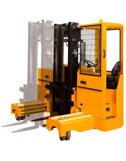 carretilla elevadora lateral eléctrica / con operador sentado / multidireccional / compacta