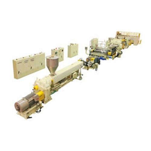 línea de extrusión para paneles de plástico / de placas / para termoplásticos