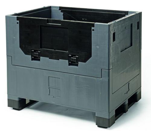 caja-palé de plástico / para almacenamiento / plegable