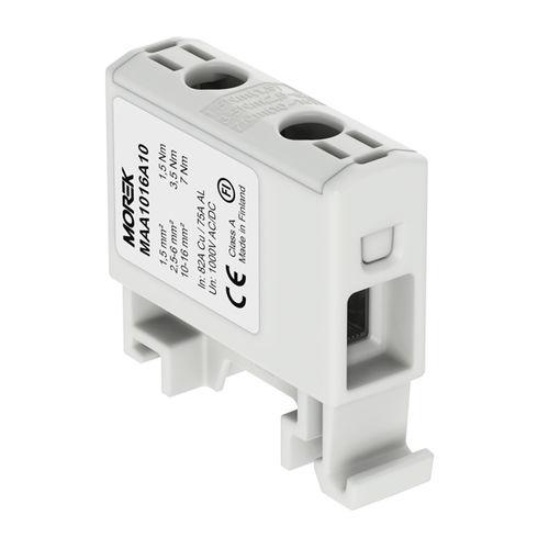 bloque de conexión con tornillo / en riel-DIN / unipolar