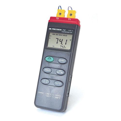 termómetro de termopar / digital / portátil / con adquisición de datos