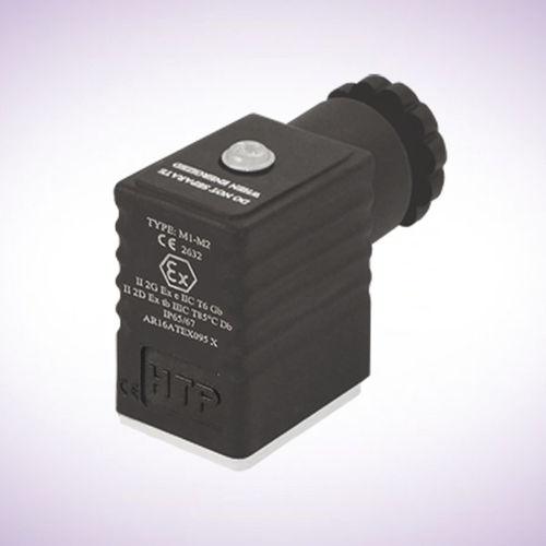 conector de alimentación eléctrica / DIN / rectangular / 2 polos