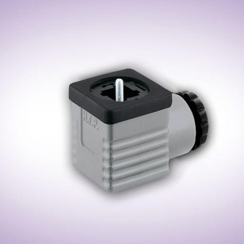 conector de alimentación eléctrica / DIN / cuadrado / macho