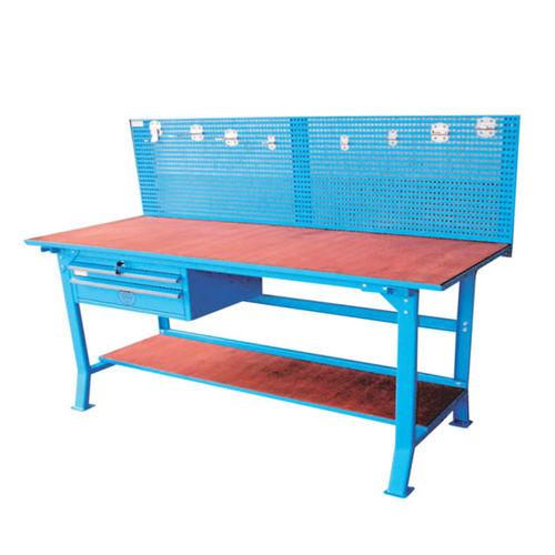 banco de trabajo de madera / con 2 cajones / con panel portaherramientas