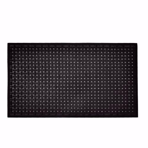 alfombra antideslizante / de trabajo / de caucho nitrilo / con estrías planas