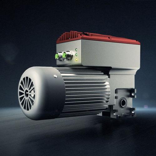 motorreductor eléctrico de ejes ortogonales / de tornillo sin fin / con eje hueco / con inverter integrado