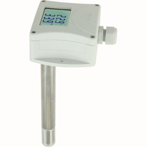 sensor de temperatura y de humedad relativa / instalado en conducto / para uso interior