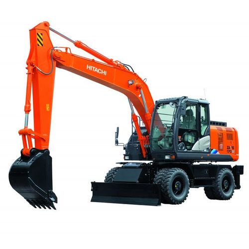 excavadora intermedia / de ruedas / diésel / para obra de construcción