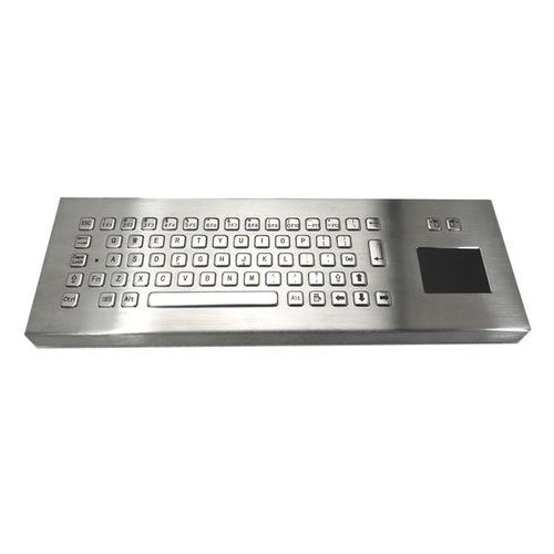 teclado de mesa / de tecla mecánica / con alfombrilla táctil / con ratón