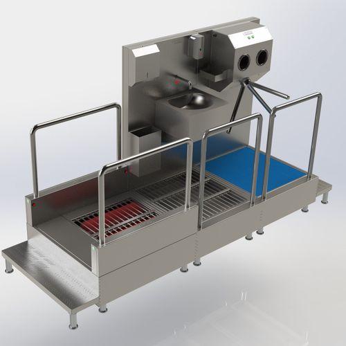 unidad de desinfección para la industria agroalimentaria / por pulverización