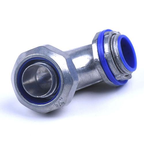 prensaestopas de aleación de zinc / IP65 / roscado / de ángulo recto