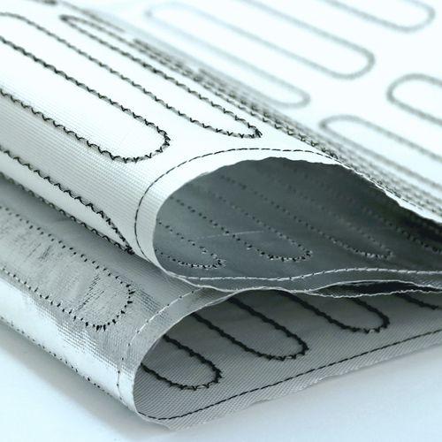 alfombra calefactora / de aislamiento térmico / de fibra de vidrio / de aluminio