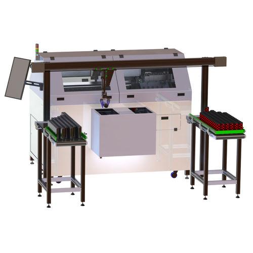 máquina de impresión de inyección de tinta UV / multicolor / para botellas / automatizada