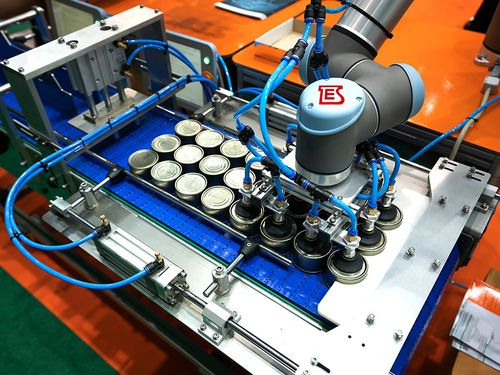 línea de ensamblaje robotizada