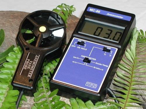 termo-anemómetro termoeléctrico / digital / portátil