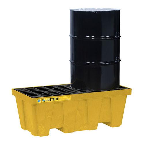 caja-palé de polietileno / de protección / para barril / estanca