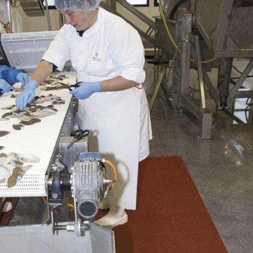 alfombra antideslizante / de caucho / de burbujas / para la industria agroalimentaria