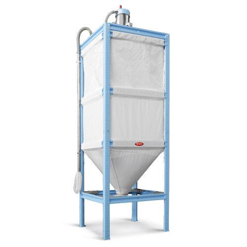 silo de fondo cónico / para granulados de plástico / de tejido