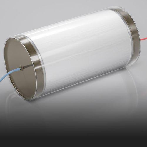 condensador eléctrico de película / cilíndrico / de alta tensión / para la electrónica