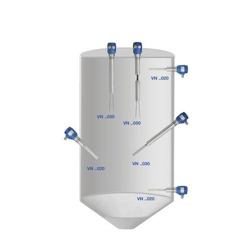 interruptor de nivel vibratorio / electromecánico / para productos a granel / para ácido silícico