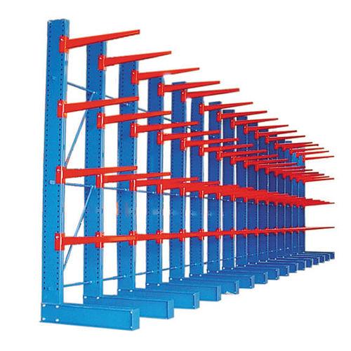 sistema de estanterías cantilever / para carga alargada / con techo / funcionamiento horizontal