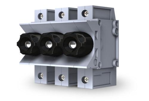 portafusible para montaje sobre riel DIN / modular