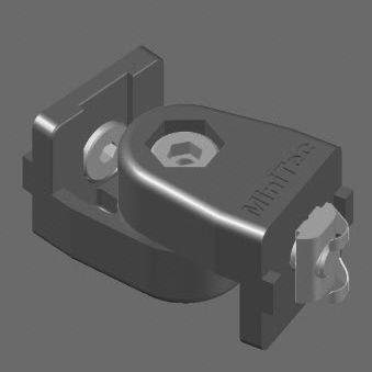 bisagra de aluminio / de pivote / para enroscar / ajustable