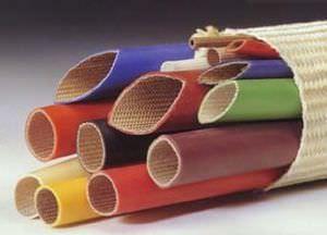 funda aislante / trenzada / para cables / fibra de vidrio