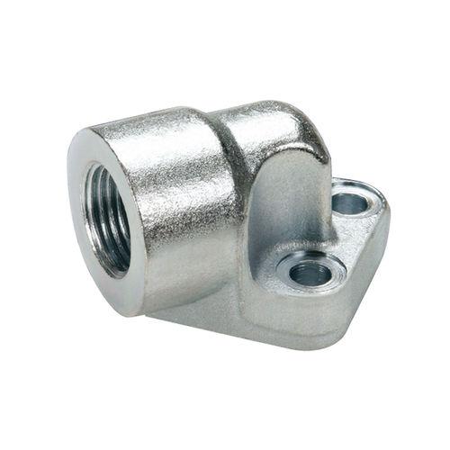 racor de rosca / codo de 90º / hidráulico / de aluminio