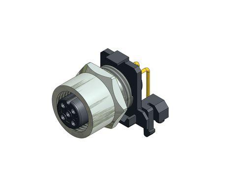 conector para montaje en panel / de datos / DIN / hembra