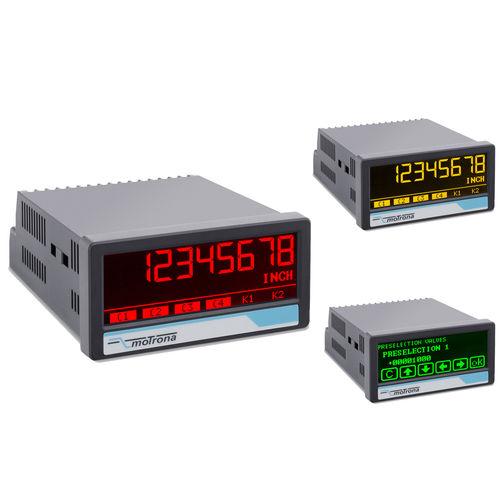 indicador de posición / de 7 segmentos / LCD / con pantalla táctil