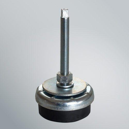 pie de máquina / de caucho / de nivelación / antivibración