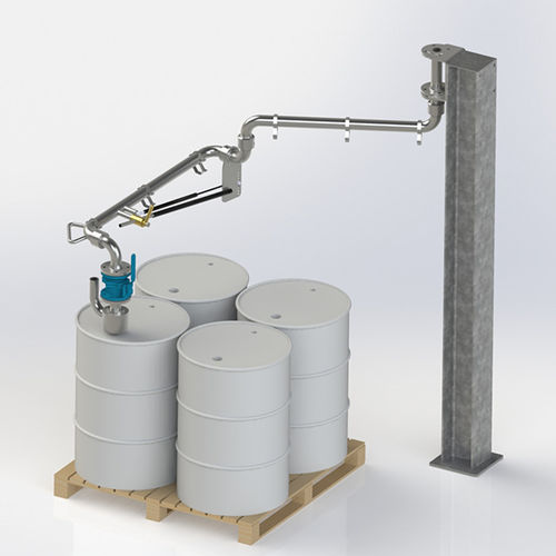 brazo de carga para barriles / para contenedor IBC