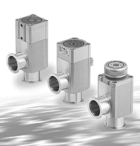válvula con control neumático / para gas / de ángulo recto / de aluminio