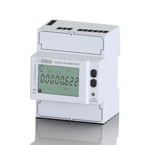 contador de energía eléctrica monofásico / trifásico / en riel DIN / con registrador de datos