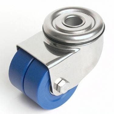 ruedecilla giratoria / con platino giratorio / con varilla roscada / altas cargas