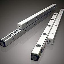 guía lineal de rodillos cruzados / con jaula de rodillos / de precisión / de gran rigidez