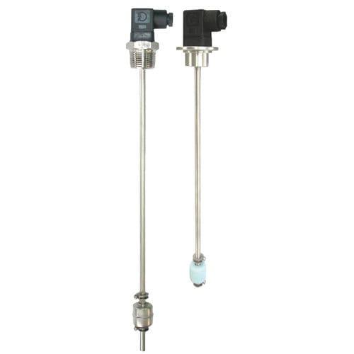 interruptor de nivel de flotador magnético / para líquidos / de acero inoxidable / roscado