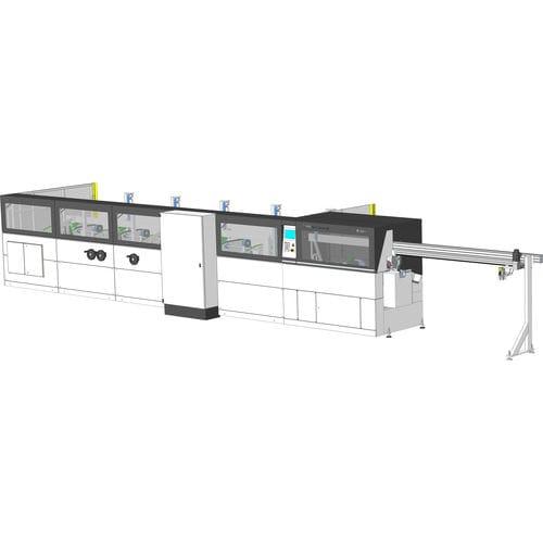 línea de corte para acero / para aluminio / para latón / de hoja rotativa