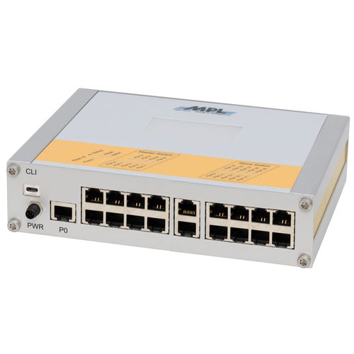 conmutador Ethernet administrable / 19 puertos / Gigabit Ethernet / en serie