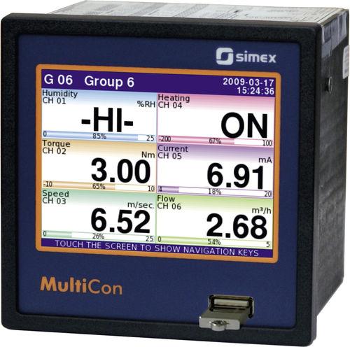 controlador de temperatura gráfico / con pantalla LCD / con pantalla táctil / multivías