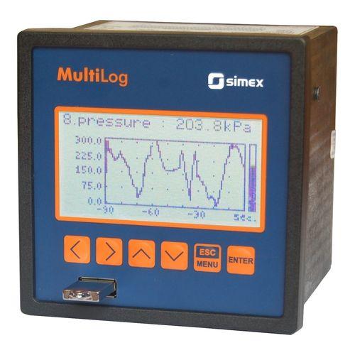 registrador sin papel / empotrable / con visualizador gráfico LCD / 1-8 entradas