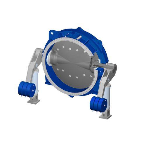 válvula hidráulica / de cierre / para turbina / de agua