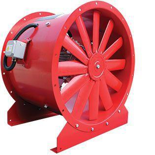 ventilador de evacuación de humos / axial / IP55 / de alta eficacia