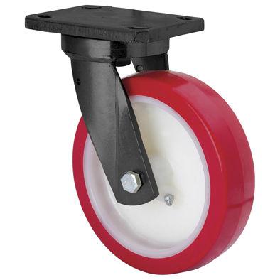 ruedecilla giratoria / con platino giratorio / para carga pesada / de acero