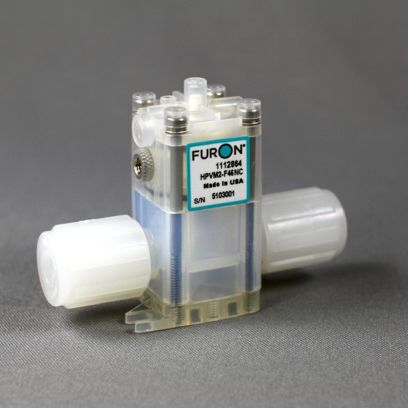 válvula de membrana / con control neumático / para productos químicos / de PTFE