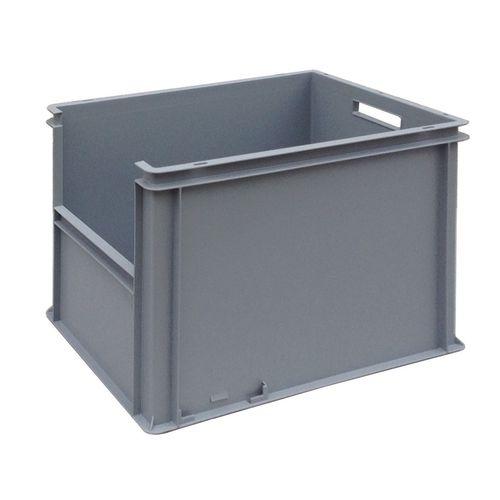cajón de polipropileno / para almacenamiento / apilable / con asideros